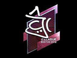 Наклейка | chrisJ (металлическая) | Бостон 2018