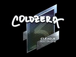 Наклейка | coldzera (металлическая) | Бостон 2018