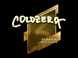 Наклейка | coldzera (золотая) | Бостон 2018