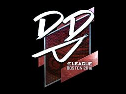 Наклейка | DD (металлическая) | Бостон 2018