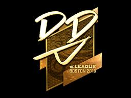 Наклейка | DD (золотая) | Бостон 2018
