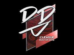 Наклейка | DD | Бостон 2018