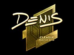 Наклейка | denis (золотая) | Бостон 2018