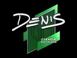 Наклейка | denis | Бостон 2018
