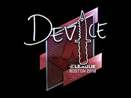 Наклейка | device (металлическая) | Бостон 2018