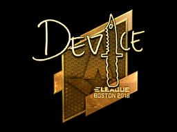 Наклейка | device (золотая) | Бостон 2018