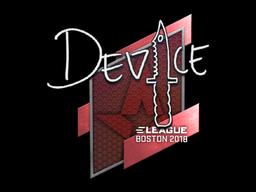 Наклейка | device | Бостон 2018