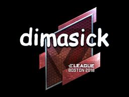 Наклейка | dimasick (металлическая) | Бостон 2018