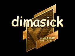 Наклейка | dimasick (золотая) | Бостон 2018