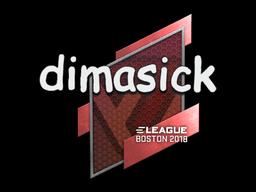 Наклейка | dimasick | Бостон 2018