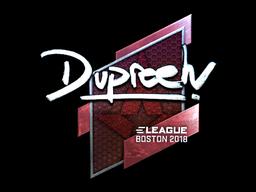 Наклейка | dupreeh (металлическая) | Бостон 2018