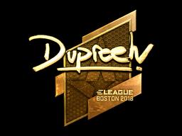 Наклейка | dupreeh (золотая) | Бостон 2018