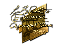 Наклейка | Edward (золотая) | Бостон 2018