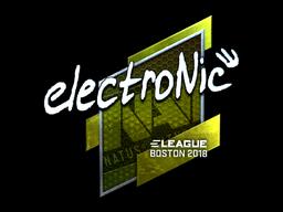 Наклейка | electronic (металлическая) | Бостон 2018