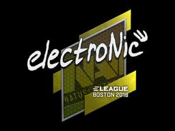 Наклейка | electronic | Бостон 2018