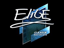Наклейка | EliGE (металлическая) | Бостон 2018