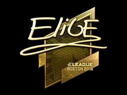 Наклейка | EliGE (золотая) | Бостон 2018