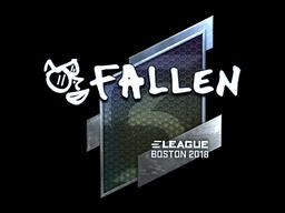 Наклейка | FalleN (металлическая) | Бостон 2018