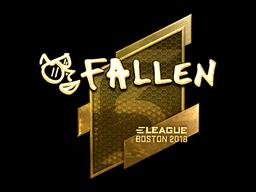 Наклейка | FalleN (золотая) | Бостон 2018