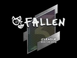 Наклейка | FalleN | Бостон 2018