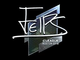 Наклейка | felps (металлическая) | Бостон 2018
