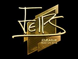 Наклейка | felps (золотая) | Бостон 2018