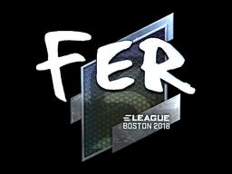 Наклейка | fer (металлическая) | Бостон 2018