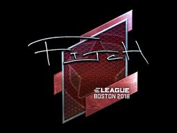 Наклейка | fitch (металлическая) | Бостон 2018