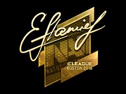 Наклейка | flamie (золотая) | Бостон 2018