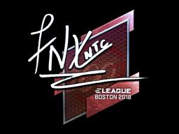 Наклейка | fnx (металлическая) | Бостон 2018