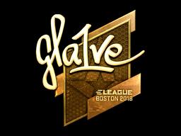 Наклейка | gla1ve (золотая) | Бостон 2018