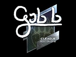 Наклейка | gob b (металлическая) | Бостон 2018
