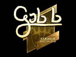 Наклейка | gob b (золотая) | Бостон 2018