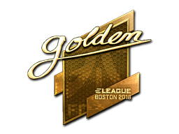 Наклейка | Golden (золотая) | Бостон 2018