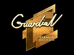 Наклейка | GuardiaN (золотая) | Бостон 2018
