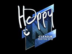 Наклейка | Happy (металлическая) | Бостон 2018