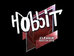 Наклейка | Hobbit (металлическая) | Бостон 2018