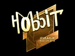 Наклейка | Hobbit (золотая) | Бостон 2018