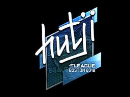 Наклейка | hutji (металлическая) | Бостон 2018