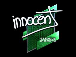 Наклейка | innocent (металлическая) | Бостон 2018