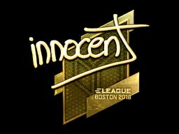 Наклейка | innocent (золотая) | Бостон 2018