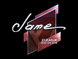 Наклейка | Jame (металлическая) | Бостон 2018