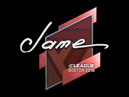 Наклейка | Jame | Бостон 2018