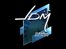 Наклейка | jdm64 (металлическая) | Бостон 2018