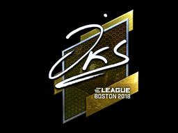 Наклейка | jks (металлическая) | Бостон 2018