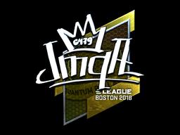 Наклейка | jmqa (металлическая) | Бостон 2018