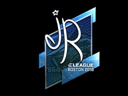 Наклейка | jR (металлическая) | Бостон 2018