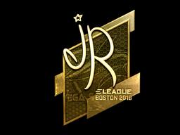 Наклейка | jR (золотая) | Бостон 2018