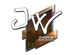 Наклейка | JW (металлическая) | Бостон 2018