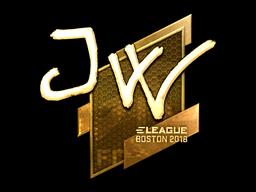 Наклейка | JW (золотая) | Бостон 2018